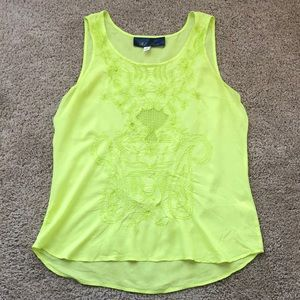 Delicate Chartreuse Tank Top